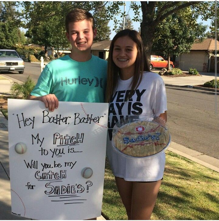 Sadie Hawkins! Creative way to ask a baseball player to the Sadies dance.