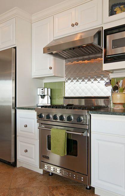 Stainless back splash blue ridge kitchen eclectic kitchen denver elizabeth p lord residential design