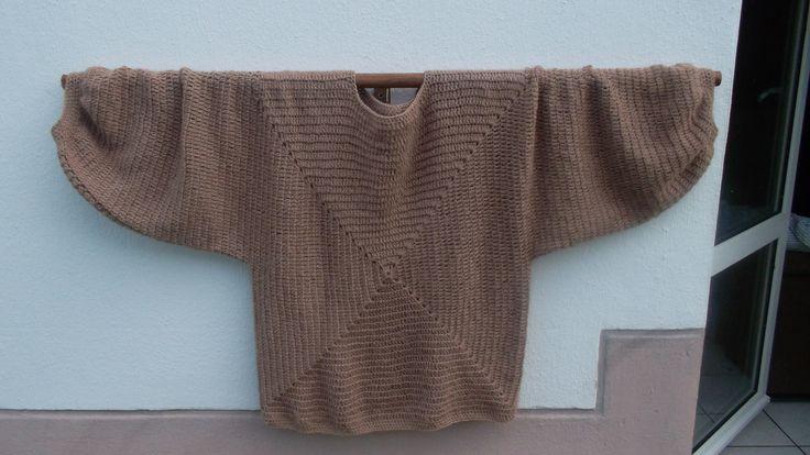 """""""Smoothie""""Pull tunique femme crochet taupe : Pulls, gilets par hookboutik"""