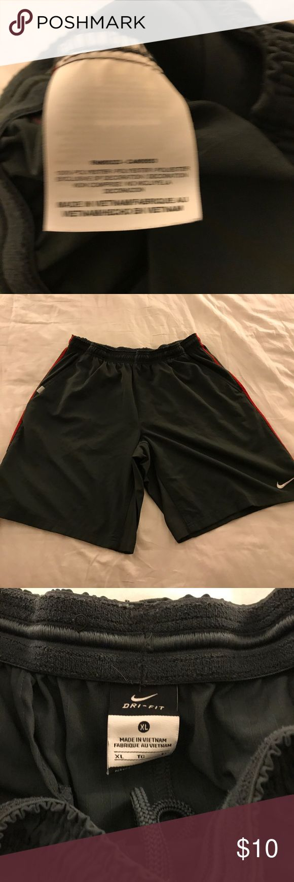 Nike Tennis Shorts - Size Large Nike Tennis shirts - charcoal with red stripe down the sides - Size XL Nike Shorts Athletic