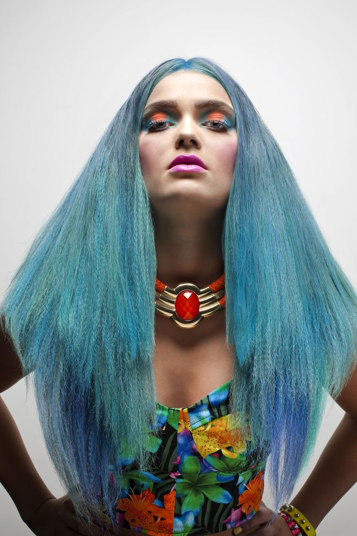Blue Haired beauty! Colour and Style by KTIZO Hair & Skin