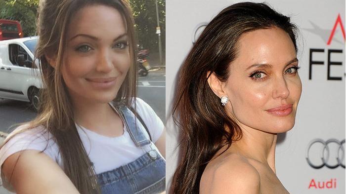 Heboh Perceraian Brangelina, Cewek Ini Dianggap Sebagai Kembaran Angelina Jolie…