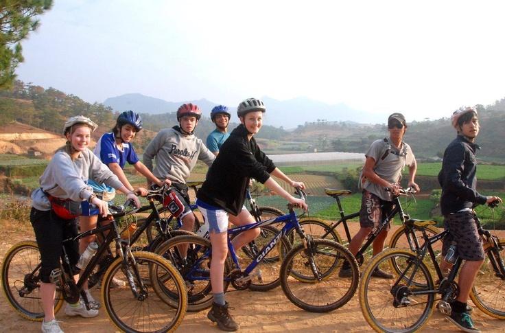 Mountain biking / Cycling in Dalat. Central Highlands of Vietnam