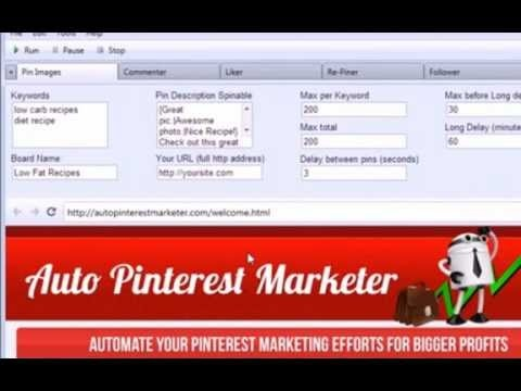 """Auto Pinterest Marketer"" Software allows you to get massive traffic in just five minutes. http://jvz5.com/c/61609/7461"