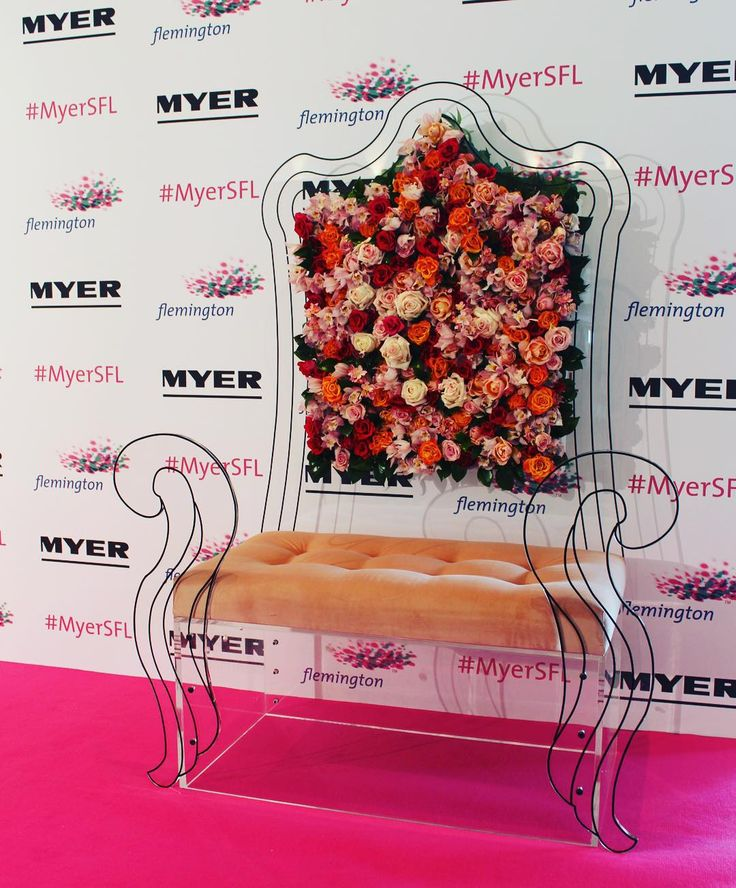 """VICTORIA RACING CLUB, (Horse Racing), Flemington, Melbourne, Australia, """"Floral Throne created for the VRC Spring Floral Lunch"""",  creative by Red Exhibitions, pinned by Ton van der Veer"""