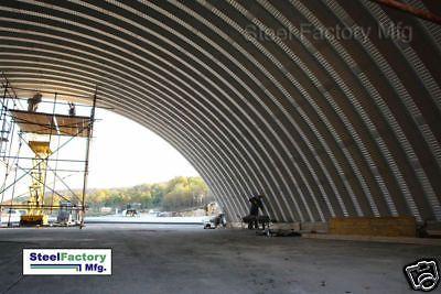 Steel Factory Mfg Q60x100x20 Metal Prefab Arch Quonset Hut Storage Building Kit
