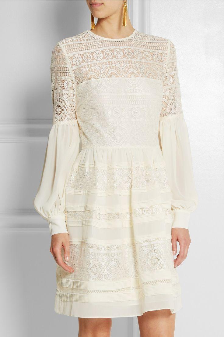 ALICE by Temperley|Fleur lace and georgette mini dress|NET-A-PORTER.COM