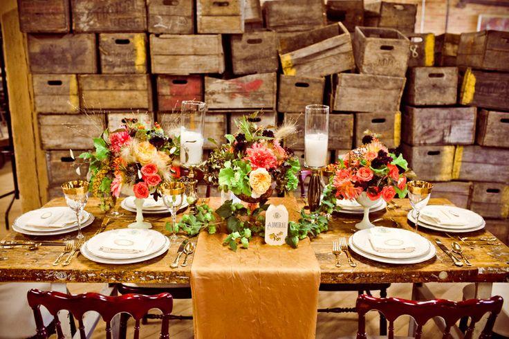 Brown-and-Gold-Fall-Wedding-Table  www.MadamPaloozaEmporium.com www.facebook.com/MadamPalooza