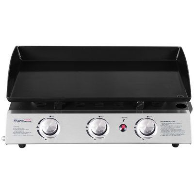 Royal Gourmet Portable Propane Gas Griddle Grill with Triple Burner Stove