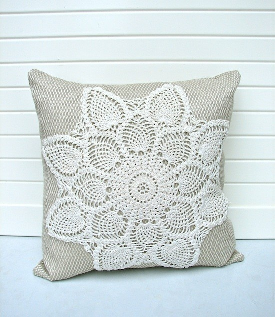 doily throw pillow