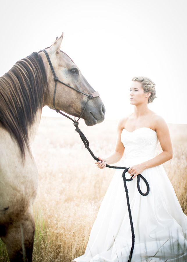 Walla Wedding Photography By Gigi Hickman Bride With Horse Day After Session