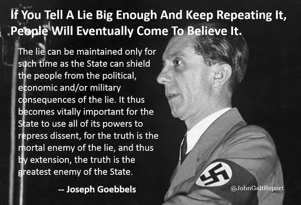 "Keeping Belief Is Enough: ""If You Tell A Lie Big Enough And Keep Repeating It"