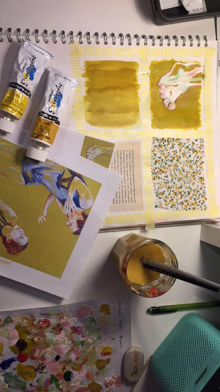 @LilliDuberley - Yellow - Cristina Troufa - GCSE Artist Study