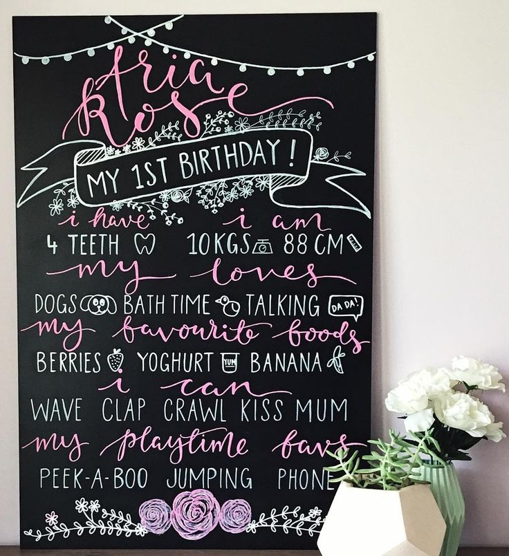 This is birthday sign for a beautiful baby Aria Rose. What an adorable name!  These signs are 900x600 and are $95  Made in Sydney with postage an option. #birthdaysign #firstbirthdaysign