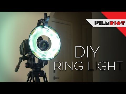 How to Make a Dirt-Cheap DIY Ring Light from a Frisbee and Some LED Strips