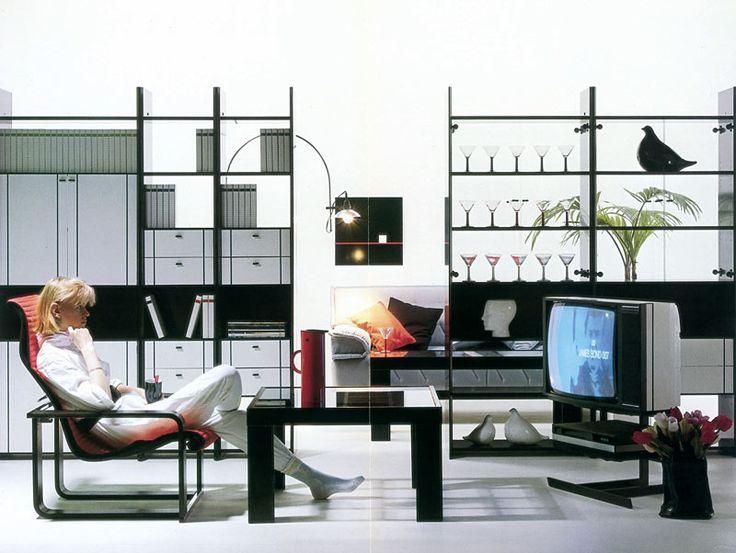 Trendikkäimmissä 1980-luvun olohuoneissa oli lasia ja siroja muotoja. Kuva: Isku Koti Oy