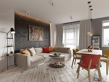 Квартира в скандинавском стиле с элементами лофта, ЖК «Skandi Klabb», 80 кв.м.