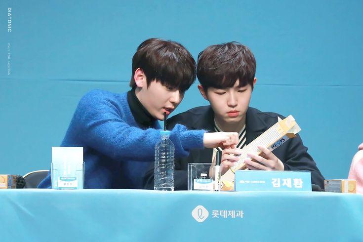 180111 Wanna One at Yohi Fansign #Minhyun #Jaehwan