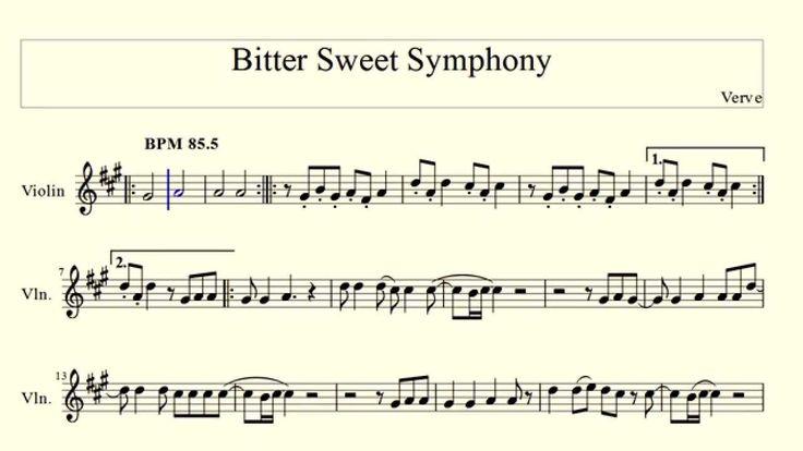 Bitter Sweet Symphony - Verve (violin) - YouTube