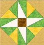 Pinwheel square dance quilt templates