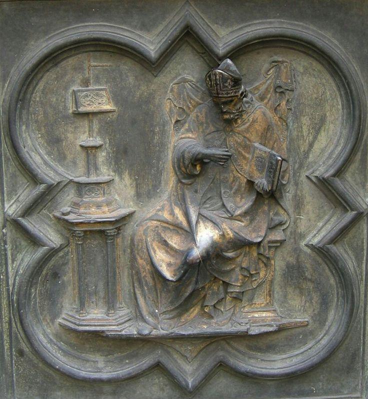 Porta Nord del Battistero di Firenze.  Sant'Agostino.  1407-1424.