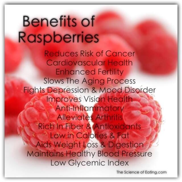 Some many benefits to raspberries I didn't know!
