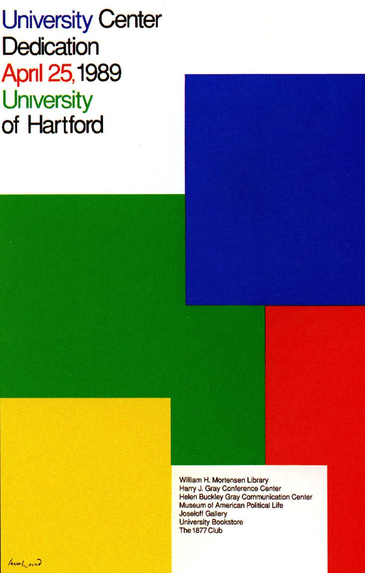 Poster design nyc - Paul Rand University Of Hartford Poster Design 1989 Nyc