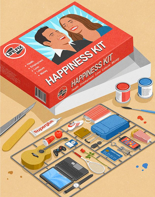 #JohnHolcroft #editorialtillustration #illustration #HappinessKit #happiness #lindgrensmith