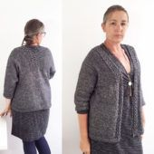 gilet gris taille44