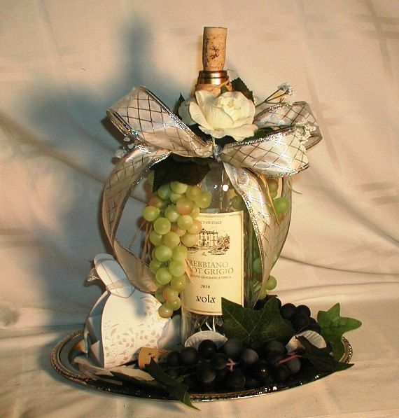 Flower Arrangements In Wine Bottles: 75 Best Images About Grape Centerpiece On Pinterest