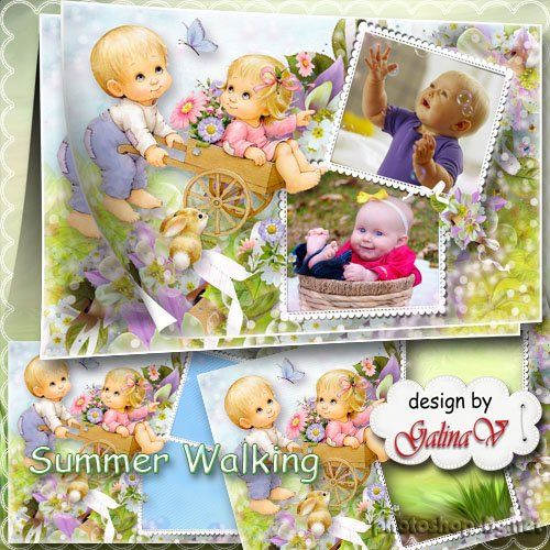 Baby's Frame for Photoshop - Summer Walking