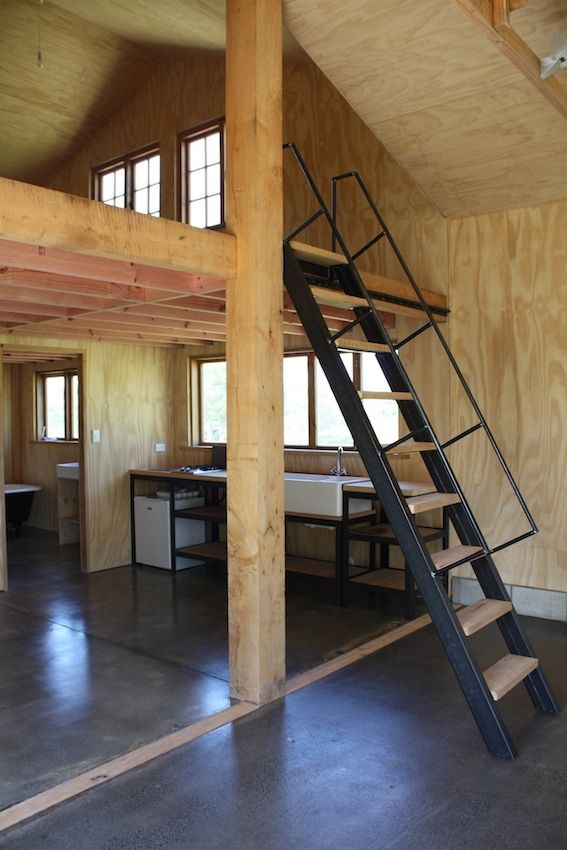Barn conversion ships lader polished concrete mezzanine interiors pinterest ladder how to - Mezzanine trap ...