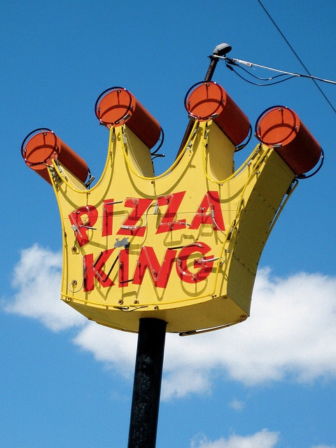 Pizza King, Muncie, IN.  My favorite pizza in the world.