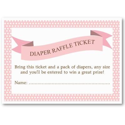 Diaper raffle ticket