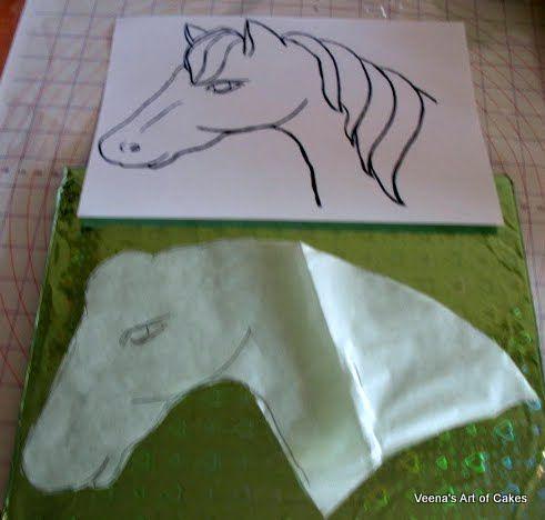 How to make a 2D Horse Cake Tutorial - by veenaartofcakes @ CakesDecor.com - cake decorating website