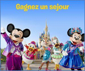 Gagner-Des-Voyages.com: gagnez un sejour pour 4 personnes à Disneyland Paris