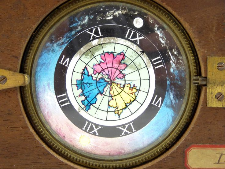 Large Mid 1800s Hand Painted Glass Magic Slide Automated Astrology - The…