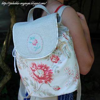Как сшить летнюю сумку-рюкзак из ткани | Мамин Креатив