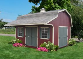 DIY Barn, panelized kit for easy assembly!  Wood Gambrel Barn | Storage Shed | Wood Barn | Outdoor Storage | Shed Kit