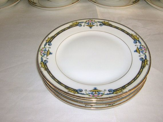 Antique Noritake China Patterns | Vintage Noritake China Amiston Pattern 4 by SettingTheTable : antique china dinnerware sets - pezcame.com