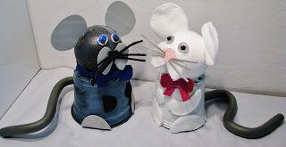 Pomysły plastyczne dla każdego DiY - Joanna Wajdenfeld: Doniczkowe myszki o ruchomych oczkach