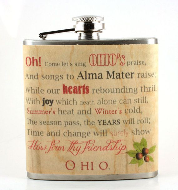 Ohio State/ Carmen Ohio wood wrapped flask  by Wickensnuffers, $22.50 ... Def going to be a gift for my brother-in-law Jeff