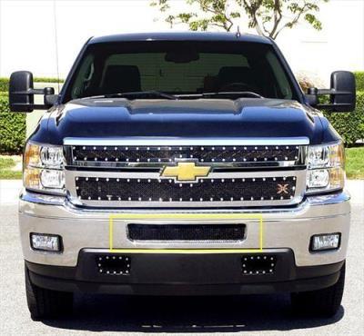 2012 CHEVROLET SILVERADO 2500 HD T-Rex Grilles Upper Class; Mesh Bumper Grille Overlay: Upper Class; Mesh Bumper Grille Overlay Fits 2011…