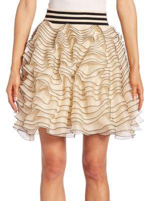 ALEXANDER MCQUEEN Tiered Ruffle Skirt. #alexandermcqueen #cloth #skirt