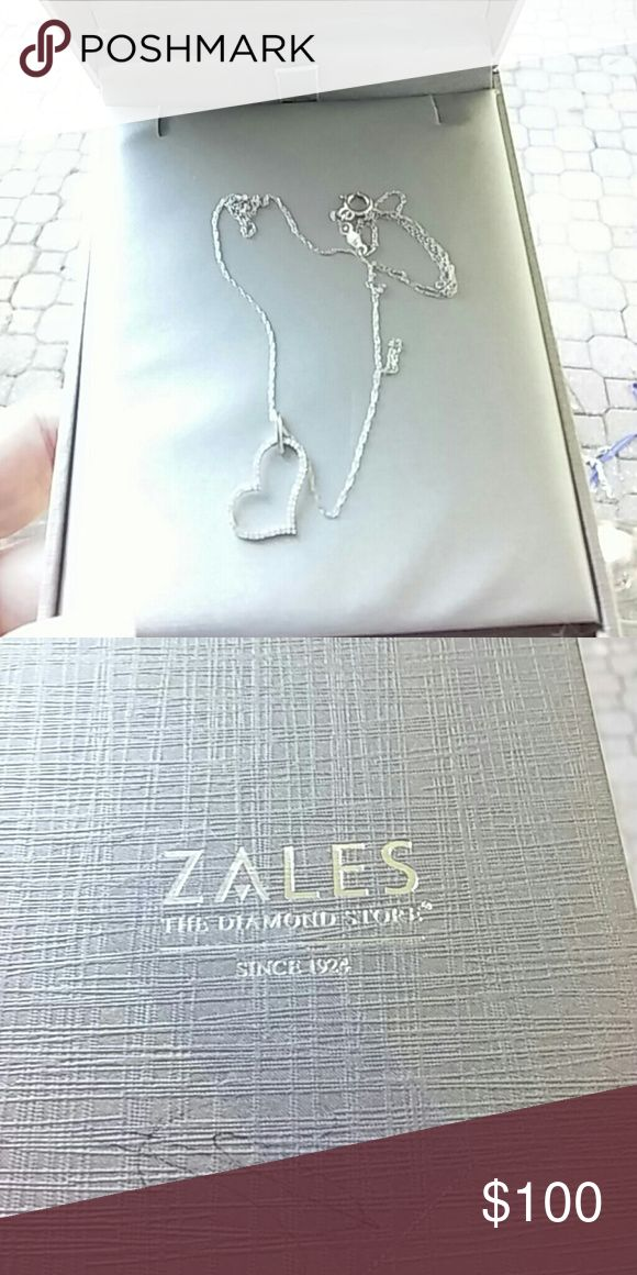 Zales diamond heart necklace Heart 1\10 diamond necklace Zales  z Jewelry Necklaces