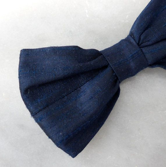 Wedding?: Bow Ties, Wedding, 17 00, Blue Dupioni, Tie Clips, Bows, Navy Blue, Dupioni Silk
