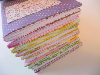 Tuto: Couverture cahier en tissu