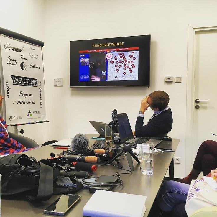 Warsztaty z TVN24. Mobilne dziennikarstwo. Super kształcące #techcampwaw #inataphoto #sektor3_0