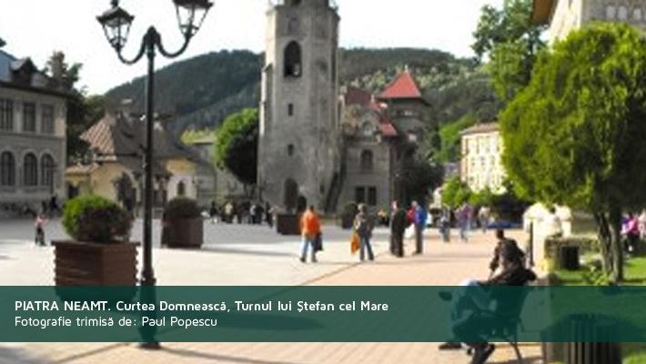 Piatra Neamt. Curtea domneasca, turnul lui Stefan cel marePoza trimisa de catre Paul Popescu  28 de poze frumoase cu orase din Romania (partea 2).  Vezi mai multe poze pe www.ghiduri-turistice.info