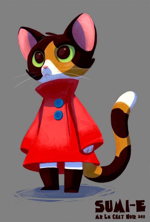 Adorable!  Makes me think of lil Bela.  <3 Monsieur le chat noir